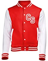 FRONT INITIAL STEP PERSONALISATION VARSITY JACKET (Fire Red / White) NEW PREMIUM Unisex American Style Letterman College Baseball Custom Top Gift Present AWD Personalised By 123t