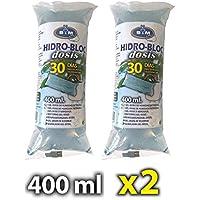 S&M 547010 547010 Pack de Dos Unidades Gel de riego HIDROBLOC para Plantas hasta 30 días sin regar, 2 x 400 ml, Transparente