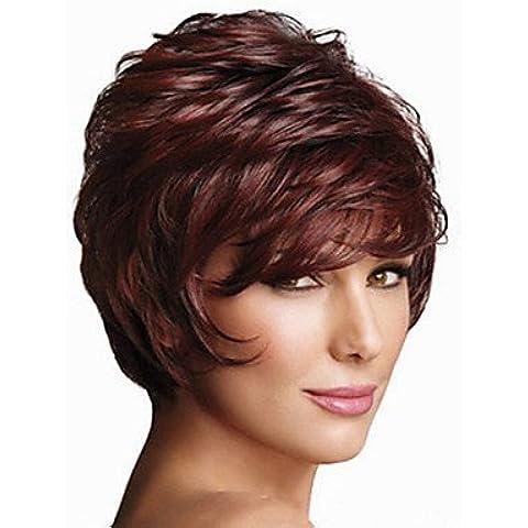 OOFAY JF ® la nuova Europa e in America deve ritardante capelli alta temperatura parrucca di filato di seta del volume breve birichino , fuxia