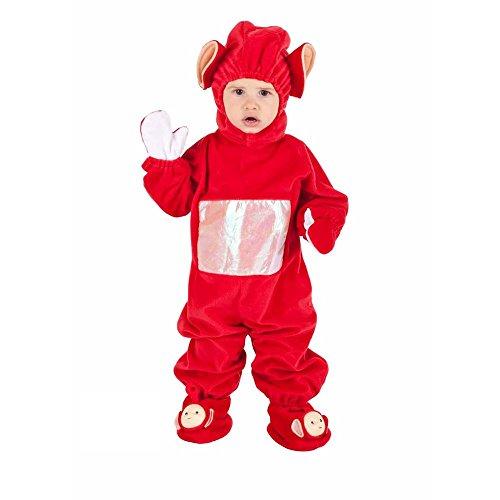 Costume vestito abito travestimento carnevale bambino folletto rosso 8825