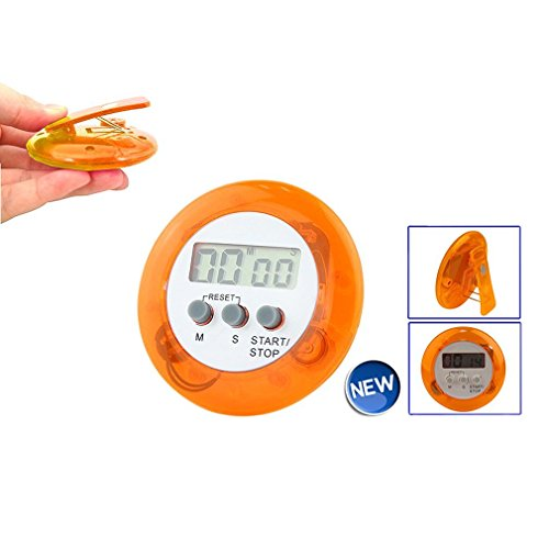 TOOGOO(R) digitalen Magnet LCD Timer Stoppuhr Kueche Kochen Countdown - Orange