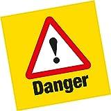 6X avertissement de danger Vinyle autocollant Hazard Santé et sécurité Home Business Shop