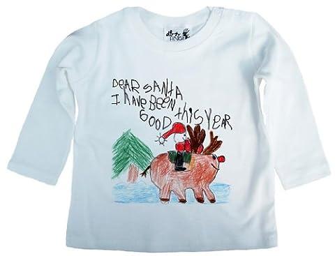Baby Weihnachten, Dear Santa, I have been good this year, Jungen T-Shirt, 12-18m, Wei?