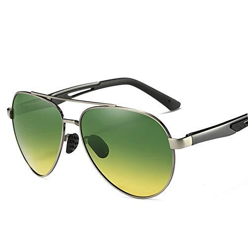 Easy Go Shopping Herren Polarized Day & Night Nachtfahrten Nachtfischen Fahren Gehen Sport Sonnenbrillen UV Cut Hochleistungsbrillen Mit Sonnenbrillenetui Sonnenbrillen und Flacher Spiegel