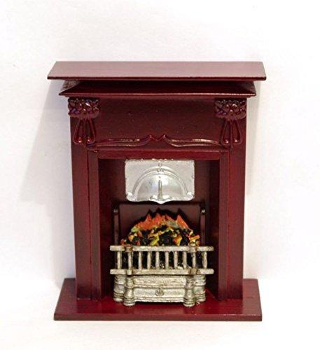 Preisvergleich Produktbild Grosser Kamin edel fuer Puppenhaus Puppenstuben Moebel Miniaturen 1:12 (braun)