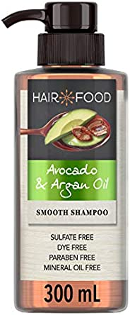 Sulfate Free Shampoo, Dye Free Smoothing Treatment, Argan Oil and Avocado, Hair Food, 300ml