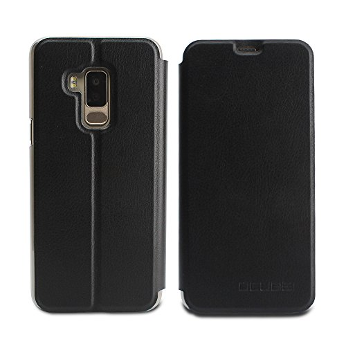 Handyhülle für Bluboo S8 95street Schutzhülle Book Case für Bluboo S8, Hülle Klapphülle Tasche im Retro Design mit Praktischer Aufstellfunktion - Etui Schwarz