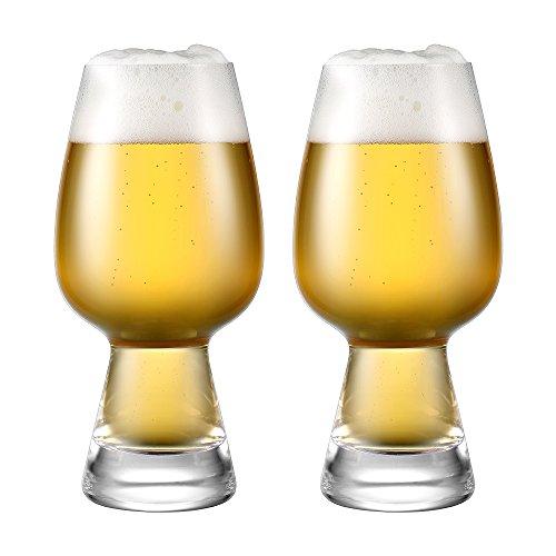 Ecooe 2-teiliges 550ml / 18.6oz Bierglas Set Biertulpen-Set, Kristallgläser in Tulpenform, Verkostungsset, Elegante Gläser für Bier