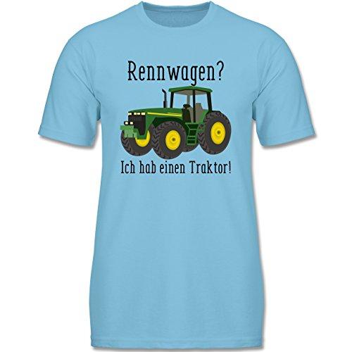 Fahrzeuge Kind - Rennwagen? Traktor! - 98 (2-3 Jahre) - Hellblau - F140K - Jungen T-Shirt