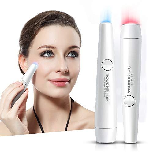 TouchBeauty PL-1693U Photonentherapie-Stift für Aknebehandlung und Akne-Narben-Behandlung, zur Entfernung von Aknen und zur Reduzierung von Falten, Rot und Blau -
