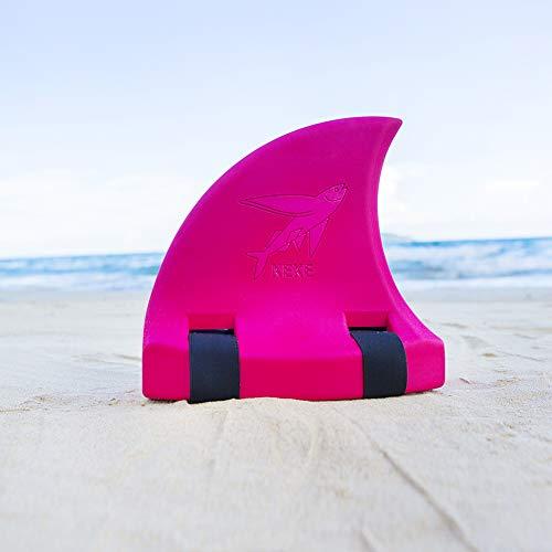 LAMF Kinder Haiflosse zum Schwimmen, mehrfarbiger Eva-Schaum, Schwimmhilfen für Kinder, Jungen, Mädchen, Haifischflosse, Schwimmbrett für Menschen von 66 kg bis 110 kg, rot, 10x5.5x9.8inch