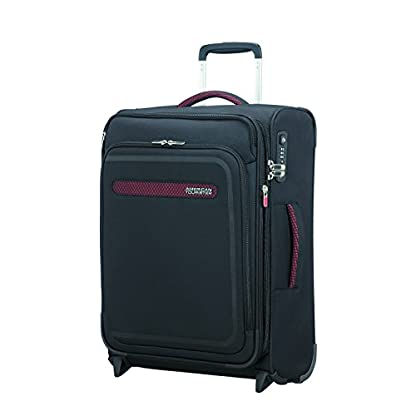 American Tourister Airbeat – Upright 55/20 Expandable Equipaje de mano, 55 cm, 48 liters, Negro (Universe Black)