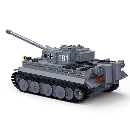 Searchyou - 1010 Stück 1/28 Tiger Tank Bausteine Bausatz Bausteine Modell Spielzeug, DIY Military Serie Panzer Building Bricks Block Spielzeug