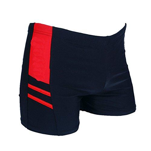 Neu Mode Trend Männer Baumwolle Badeanzug Erwachsene Wohnung Schwimmen Trunk Schwimmen Badeshorts Red