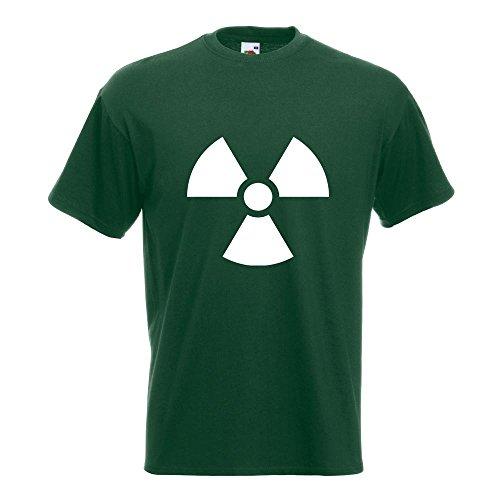 KIWISTAR - Radioaktiv T-Shirt in 15 verschiedenen Farben - Herren Funshirt bedruckt Design Sprüche Spruch Motive Oberteil Baumwolle Print Größe S M L XL XXL Flaschengruen