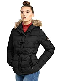 d0fcdb9b2aa3 Womens Brave Soul Hopp Padded Jacket Ladies Detachable Hood Quilted Coat