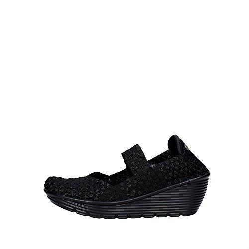 Pregunta PCAKELLY-001 Sneakers Donna Elasticizzato Nero Nero 37