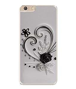 PrintVisa Designer Back Case Cover for Micromax Canvas Knight 2 E471 (Artistic Flowers In Heart Design)