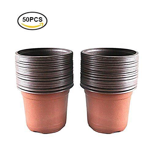 Romote 50 pcs Plastique Plante/Pots de Fleurs 15 cm de graines de Plateau Idéal pour Jardinier