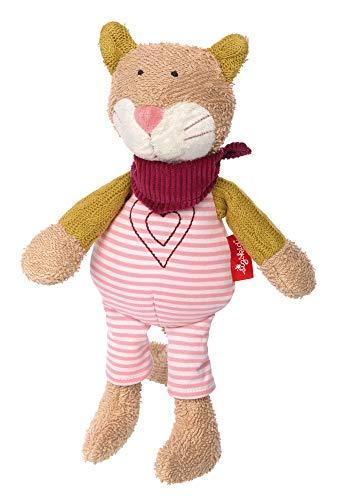 sigikid, Mädchen, Stofftier Katze, Urban Baby Edition, Rosa/Beige, 39029