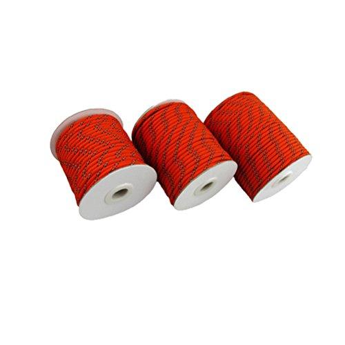 PIXNOR - Reflectante de 30 m, 5 mm cable cuerda Guy Tendedero para el hogar Camping Toldo Tienda (Rojo)
