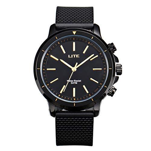 Reloj Inteligente Impermeable Hombre, GOKOO Lite SOS Tracker De Moda Quartz Smart Watches para Mujeres y Hombres con Cámara Remota, Podómetro, Contador De Calorías para Teléfonos Android e iOS
