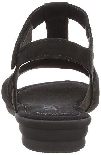 Gabor Shoes 22.722.31 Damen Offen Sandalen Black (Black Nubuck Lavato)