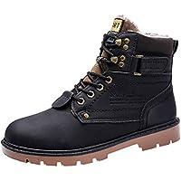 ☺HWTOP Winter Herren Martin Stiefel Rutschfeste Verschleißfeste Stiefeletten Outdoor-Schuhwerk Große Größe Schuhe