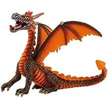 Bullyland Fantasy Figurine Dragon assis (orange) 11 cm