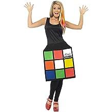 Generique Disfraz vestido Cubo de Rubik mujer S