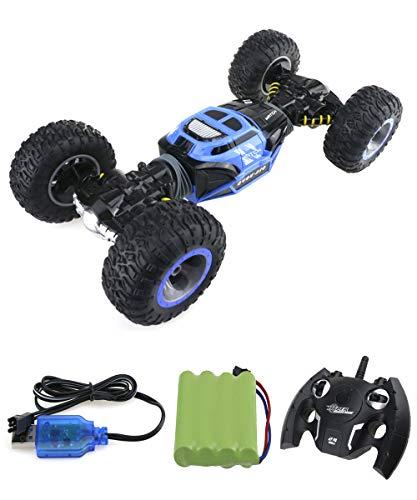 ZIHENGUO RC-Auto 1:16 4WD Hochgeschwindigkeits-Off-Road-Ferngesteuertes Auto 2,4 Ghz Alle Gelände Doppelseitig Erwachsene Kinder Funkfernsteuerung,Blue