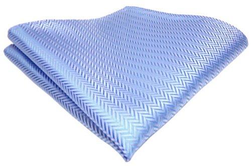 TigerTie Einstecktuch in der Farbe Hellblau Silber 25 x 25 cm - Tuch Stecktuch Kavalierstuch Pochette 100% Polyester