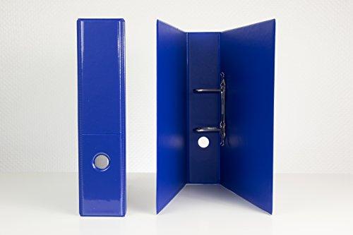 2 DIN A 4 Präsentations - Ordner in blau 65 mm breit aus deutscher Produktion