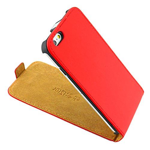 """ebestStar - pour Apple iPhone 6S 6 Plus écran 5,5"""" - Housse Coque Etui à rabat PU cuir ULTRA FIN (ultra slim case) + Mini Stylet tactile, Couleur Bleu [Dimensions PRECISES de votre appareil : 158.1 x  Rouge"""