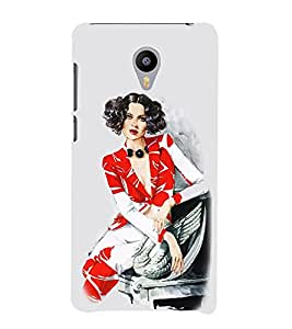 Vizagbeats Lady in Wave Short HairStyle Back Case Cover for MEIZU M2 note