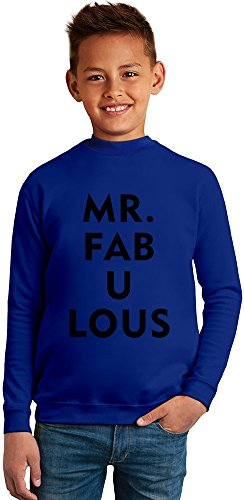 Mr Fabulous Superb Quality Boys Sweater by BENITO CLOTHING - 50% Cotton & 50% Polyester- Set-In Sleeves- Open End Yarn- Unisex for Boys and Girls