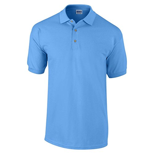 MAKZ Herren Gildan Dry Blend Jersey Knit Polo Blau - Carolina Blue
