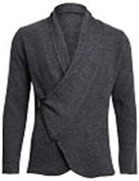 Herren Strickjacke knit von Imperial Farbe Grau Casual Asymmetrisch  geschnittene mit Reißverschluss 83ab03a2ba