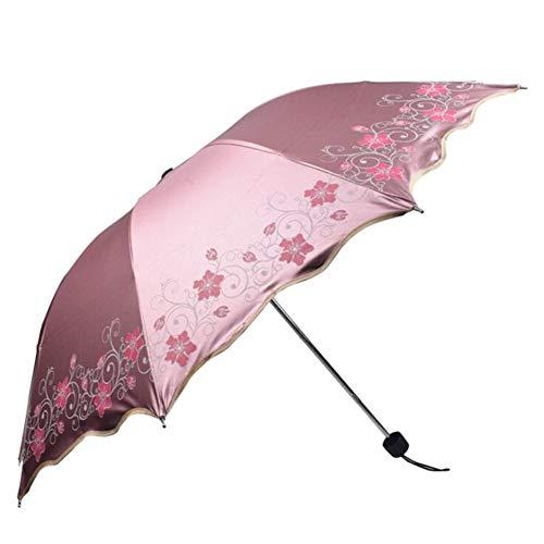CASEY-L Faltbarer Regenschirm, Sonnen- und Regenschirm Werbeschirme Winddichter Sonnenschutz Business UV-Schutz Reiseutensilien Pink