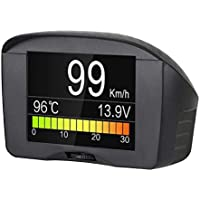 AUTOOL Car OBDII Head Up Display OBD2 HUD Digital KMH/MPH Speedometer & Overspeed Alarm Auto Common Fault Code Scanner Water Temperature Gauge with LCD Display for 12V Most Petrol & Diesel Vehicle