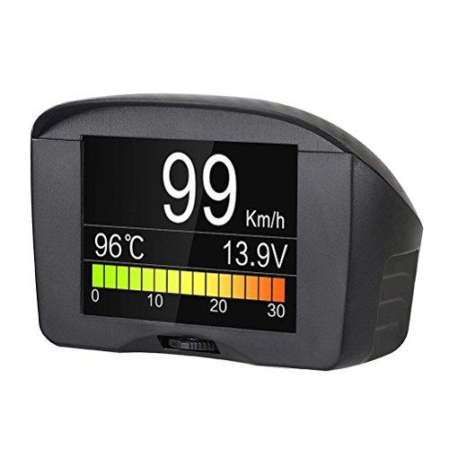 Autool coche OBDII Digital velocímetro kmh/MPH con exceso de velocidad de alarma Auto común culpa código escáner Temperatura del agua Medidor con LCD Pantalla para 12V Vehículos más gasolina & diesel