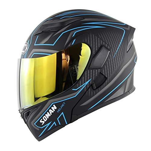 Preisvergleich Produktbild Männer Flip Up Modular Racing Helm Farbe Visier Doppel Objektiv Frauen Motorradhelm Anti Crash Downhill Voller Schutz Motocross Helm Jahreszeiten Universal