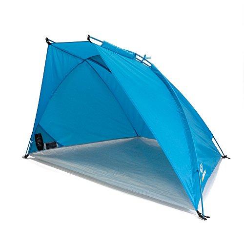 outdoorer Leicht-Strandmuschel Helios Air 850, UV 80, kompakt, kleines Packmaß für Reisen, Sonnen-Zelt mit Alugestänge und Belüftung - Strand Sonne Zelt