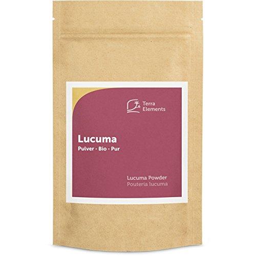 Terra Elements Bio Lucuma Pulver 200 g I Natürliche Süße aus Peru I 100% rein I Vegan I Rohkost