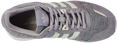 adidas Damen ZX 700 Sneaker Low Hals Grau (Medium Grey Heather/linen Green/grey)