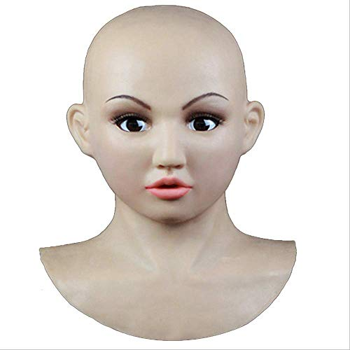TWO Sexy Silikon Maske Female Masken Pretty, Halloween Christmas Masks, Angel Face, Cosplay Male to Female for Crossdresser Transgender Shemale, Using Safe Medical Grade Silicone Rubber