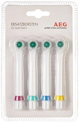 Ez-ersatz (AEG EZ 5623 kartáčky 4 Stück Aufsteckbürsten für elektrische Zahnbürste, weiß)