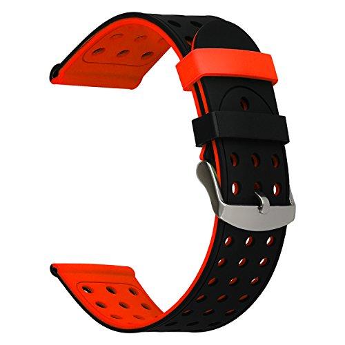 TRUMiRR 20mm liberación rápida Banda Reloj Silicona