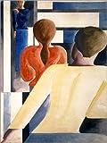 Posterlounge Alu Dibond 30 x 40 cm: Blau-rot-gelb am Geländer von Oskar Schlemmer/ARTOTHEK