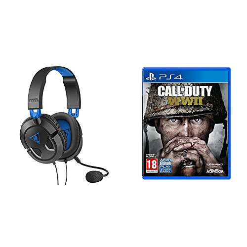 Turtle Beach Recon 50P Stereo Gaming Headset (PS4, PS4 Pro, Xbox One, Xbox One S) + Call of Duty: WWII (PS4)